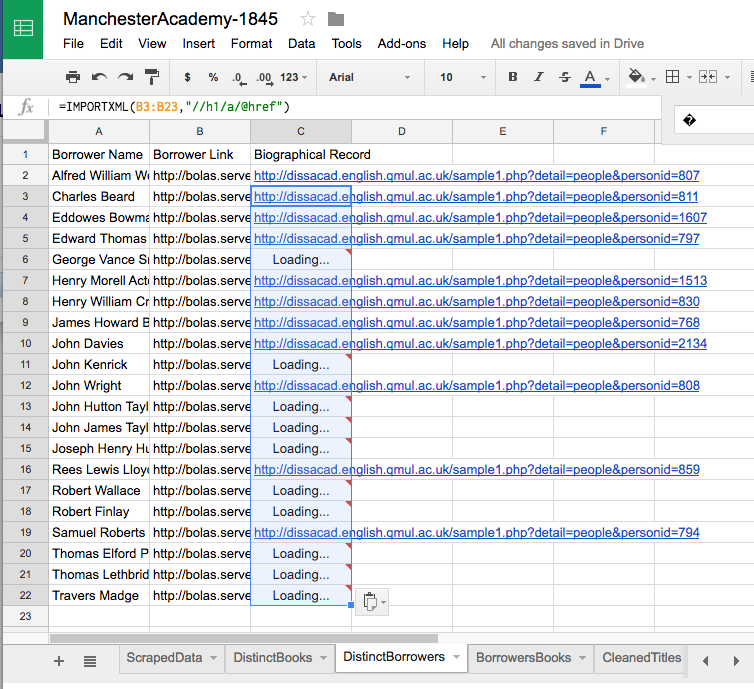 Social Network Mapping, Part II: Massaging Data in Google