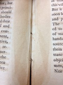 Picture of the stitching in the book